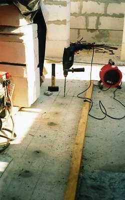 Сверление отверстий для арматуры