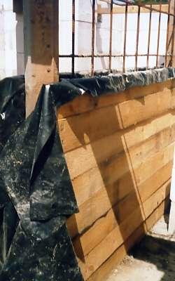 Бетонирование промежуточной стенки