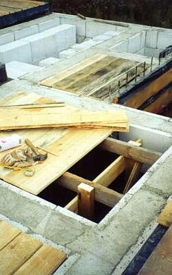 Деревянное перекрытие дома из пеноблоков своими руками