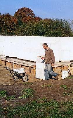 Подготовка к кладке блоков