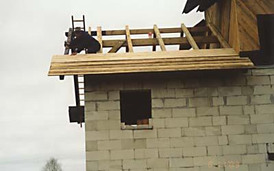 Обшивка основной крыши