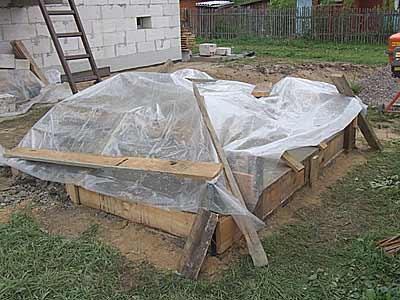 Укрытие бетона полиэтиленовой пленкой