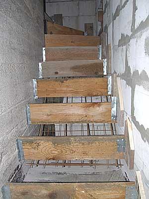 Готовая опалубка перед бетонированием