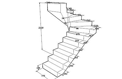 Проект железобетонной лестницы