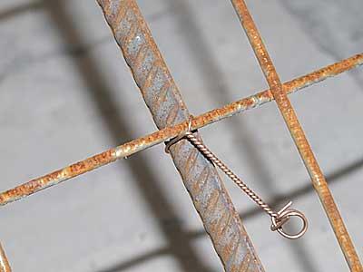 Вязка арматуры проволочными скрутками