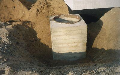 Сборный колодец со снятой опалубкой