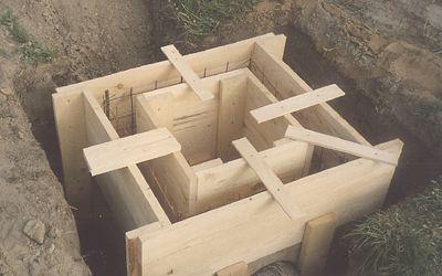Опалубка готова к укладке бетона