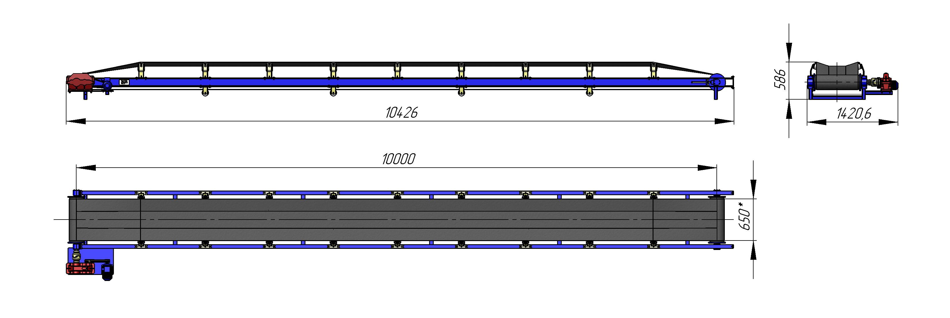 Размеры транспортеров ленточных альтернатива транспортеру