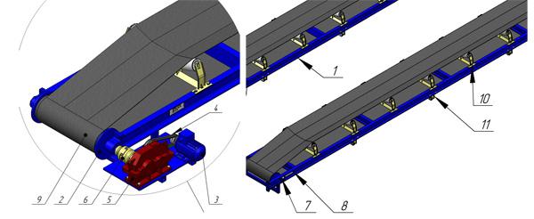 Конвейер с шевронной лентой чертеж самодельный транспортер для навоза видео